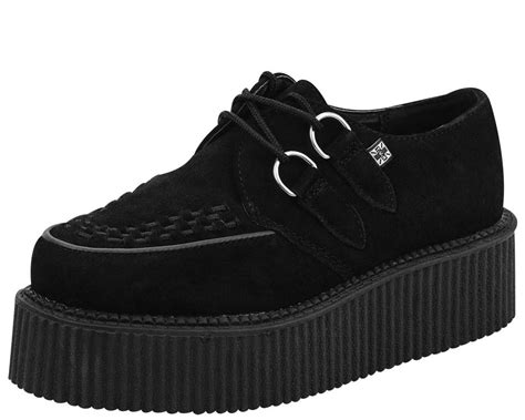 creepers shoes black suede mondo creeper t u k shoes t u k shoes