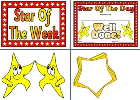 printable star of the day certificates free and low cost teaching resources posters to cover
