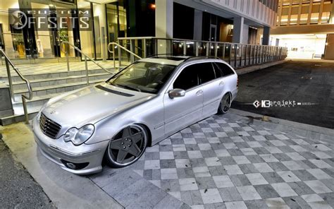 bagged mercedes c class wheel offset 2005 mercedes benz c class tucked bagged