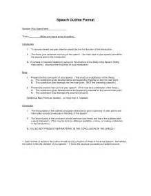 Writing A Speech Outline by Speech Outline Template Mobawallpaper