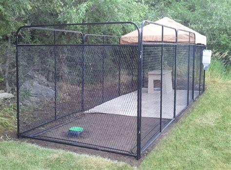 the best solution to outdoor kennel for large