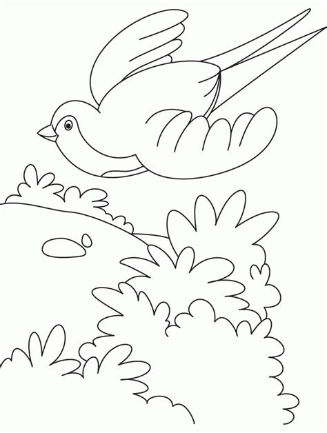 free coloring pages of birds in flight bird flying cartoon coloring home
