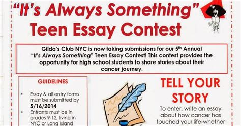 Essay Contest March by Becca Fitzpatrick Gilda S Club Nyc Essay Contest