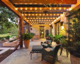 Patio Lighting Ideas Outdoor Wood Pergola Outdoor Walkway Patio Seating String Lights Patio Lighting Globe Bulbs