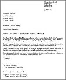 Business letter format formal and professional tamplate download