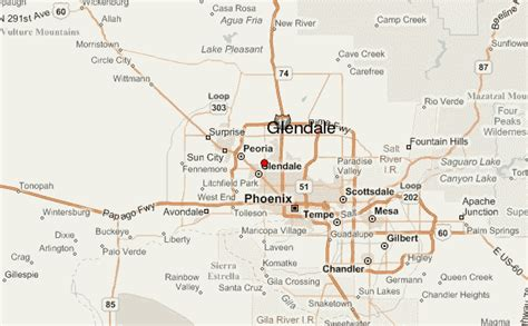 glendale arizona us map map of glendale arizona travelsmaps