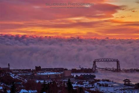 duluth sea smoke duluth ariel bridge duluth mn lake superior pinterest