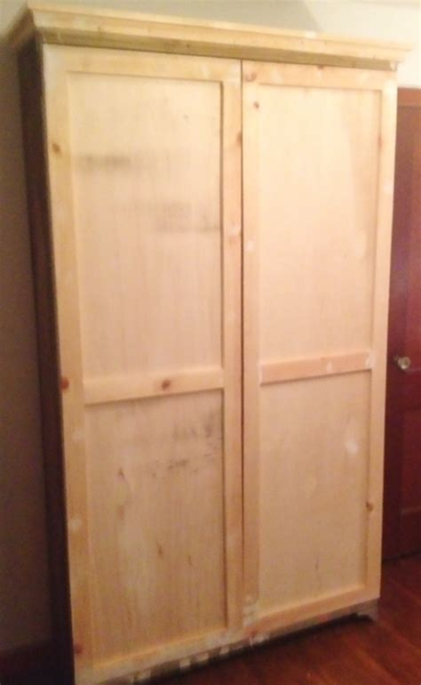 Build Armoire by Build An Armoire Distress It With Chalk Paint