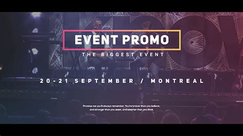 event promo commercials after effects templates f5