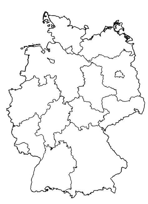 black map germany map black and white