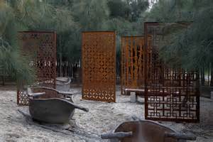 free standing steel garden panels rustique
