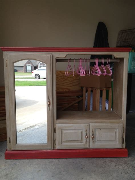 girls dress up armoire old entertainment center repurposed into a little girls dress up armoire fun kids