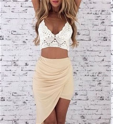 knitted crop top and skirt the knit crop top