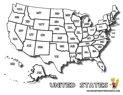 free printable usa map with cities map of united states to print for kids letter enclosures
