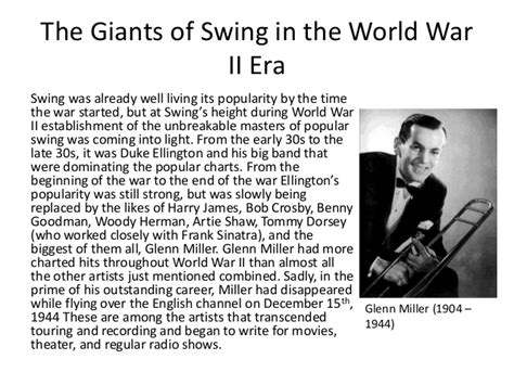 characteristics of swing music jazz during wwii