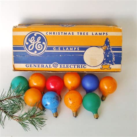 ge christmas light bulbs vintage general electric g 14