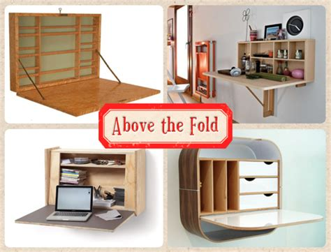 Wall Mounted Folding Desk by Tiny Apartment Above The Fold 10 Wall Mounted