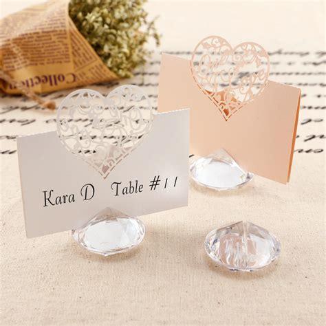 Tischkartenhalter Hochzeit by 10 20 Diamant Kartenhalter Platzkarte Tischkartenhalter