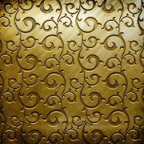 pattern of gold gold copperplate pattern engraved hd picture 1 free stock