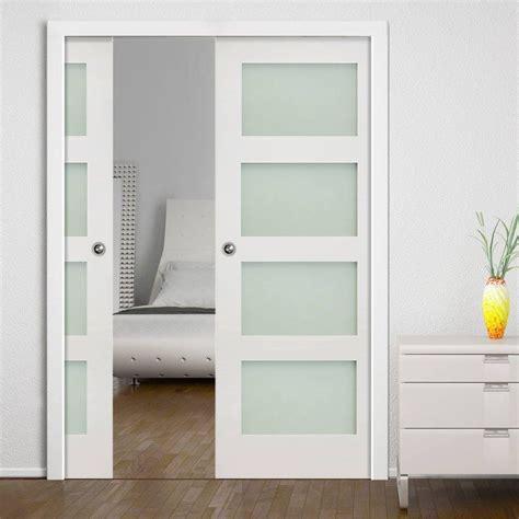 shaker glass doors deanta double pocket coventry white primed shaker door
