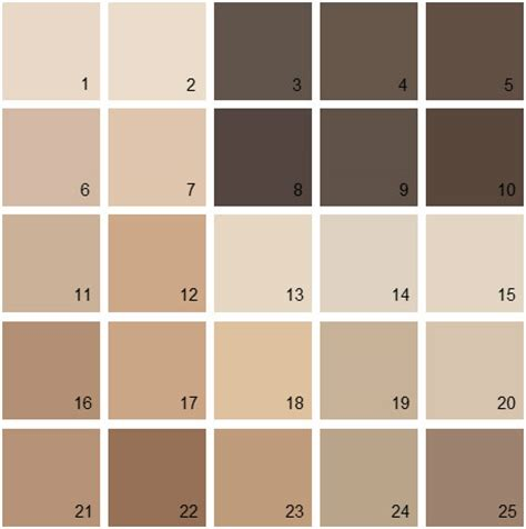 benjamin paint colors brown palette 04 house paint colors