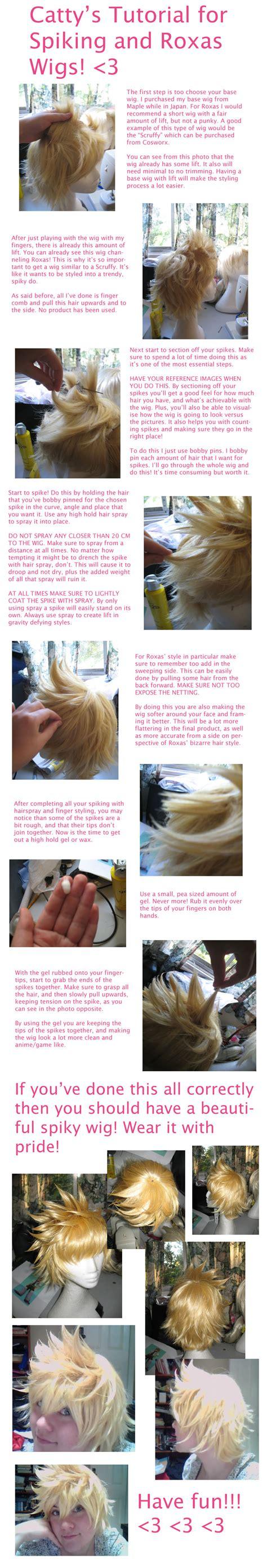 tutorial wig wig spiking tutorial cosplay blog with a brain
