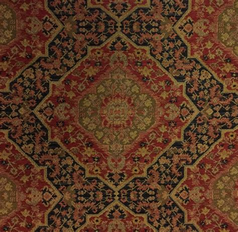 red gold upholstery fabric black red gold bidjar red upholstery fabric by the