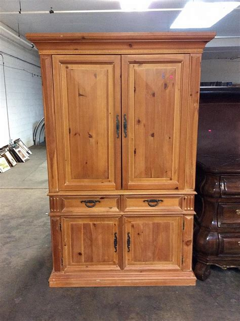 real wood armoire thomasville solid wood armoire
