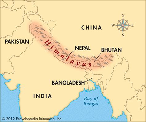 himalayan mountains map map of himalaya mountains