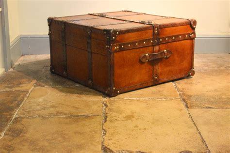 stylish compendium bespoke coffee table trunk leather