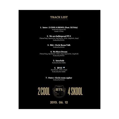 Bts Vol 1 bts 방탄소년단 single album vol 1 2 cool 4 skool 233 dition