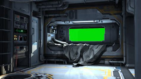 bedroom video clip scifi spaceship bedroom video background green screen