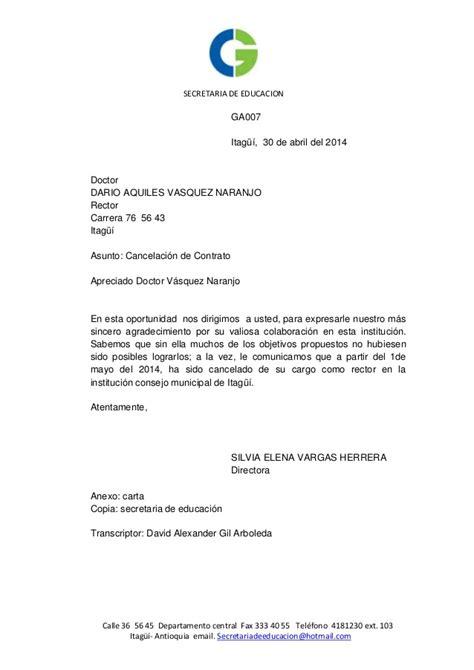 ejemplo carta de despido laboral carta 7 despido comercio
