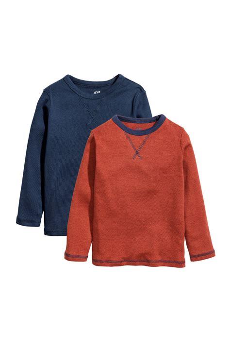 Sale Jersey Sepeda Set 100 2 Pack Jersey Tops Orange Blue Sale H M Us
