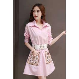 Dress Akane Belt Pinggang Karet dress wanita korea d2667 moro fashion