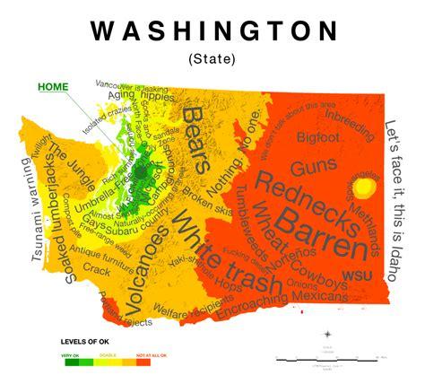 seattle map joke map of washington state stereotypes trubetskoy