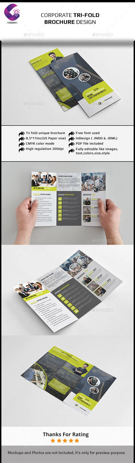Tri Fold Brochure Indesign Template Graphicriver Tri Fold Flyer Template Indesign