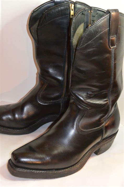 mens leather motorcycle boots vintage leather motorcycle boots classic vintage apparel