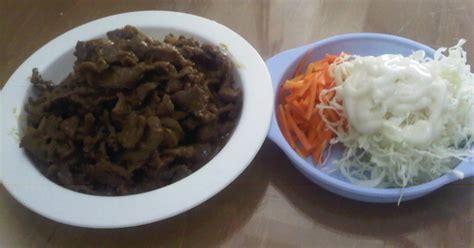 resep membuat salad sayur ala hokben resep beef teriyaki salad sayur ala hokben oleh mama