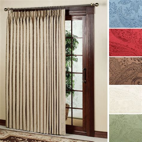 patio curtain panel gabrielle pinch pleat thermal room darkening patio panel