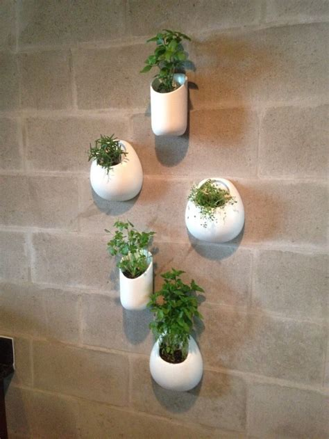 ceramic wall planters set  white wall pocket set hand