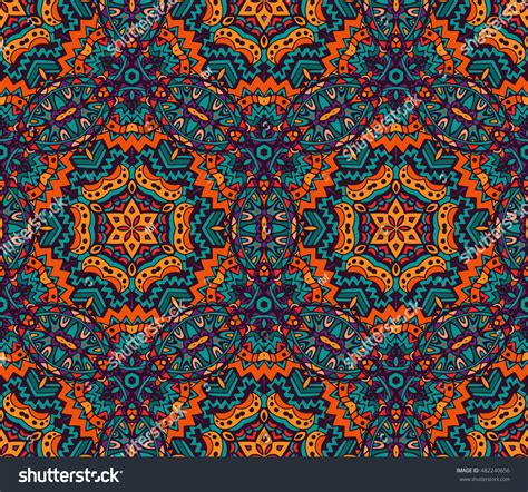 colorful ethnic wallpaper abstract seamless pattern ornamental festive colorful