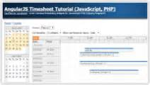 tutorial javascript php timesheet daypilot code