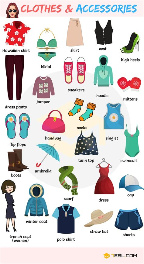 clothing vocabulary english vocabulary for clothing clothes and accessories