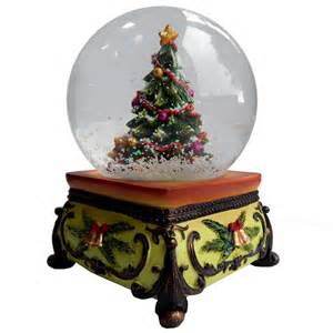 gifts kingdom square base snow globe christmas tree snow