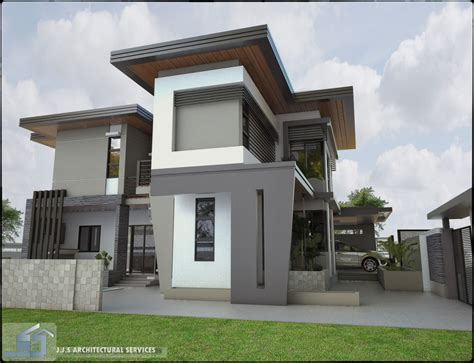 house design modern zen orani bataan 2 storey residential house home design