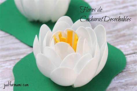 imagenes de flores reciclables flores de cucharas desechables just for mami