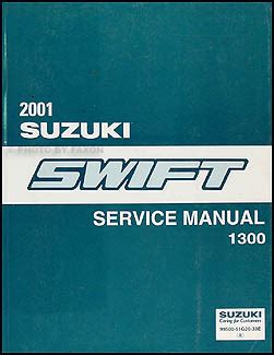 2001 suzuki swift repair shop manual original