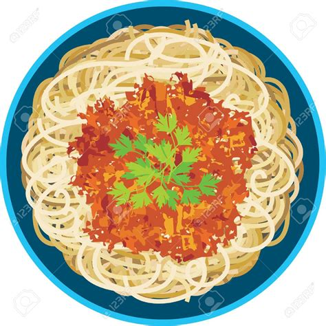 pasta clipart sauce clipart plate spaghetti pencil and in color sauce