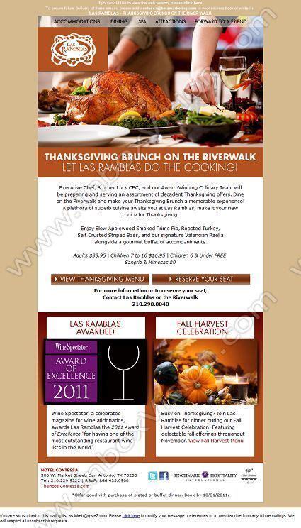 hotel newsletter layout company the hotel contessa subject thanksgiving is